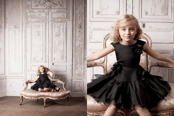 Little Girls Designer Clothing When young girls wear black