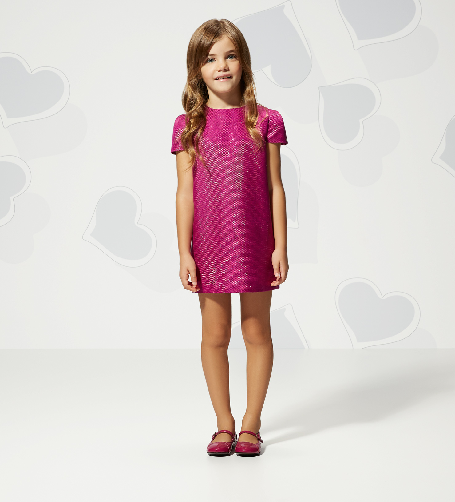 Holiday Girls Dresses Gucci Fuchsia and Gold Diamond ...