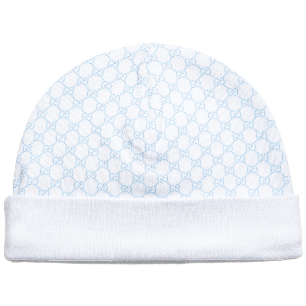 gucci-baby-boy-blue-and-white-cotton-hat-charmposh