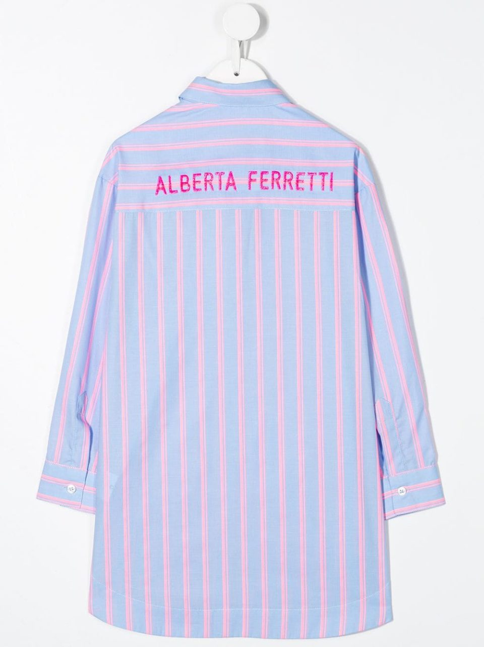 CharmPosh-x-Farfetch-Girls-Designer-Clothes-Alberta-Ferretti-Kids-Striped-Print-Shirt-CharmPosh