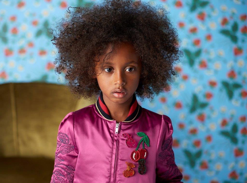 Gucci Kids Highlights Natural Hair For Spring 2016