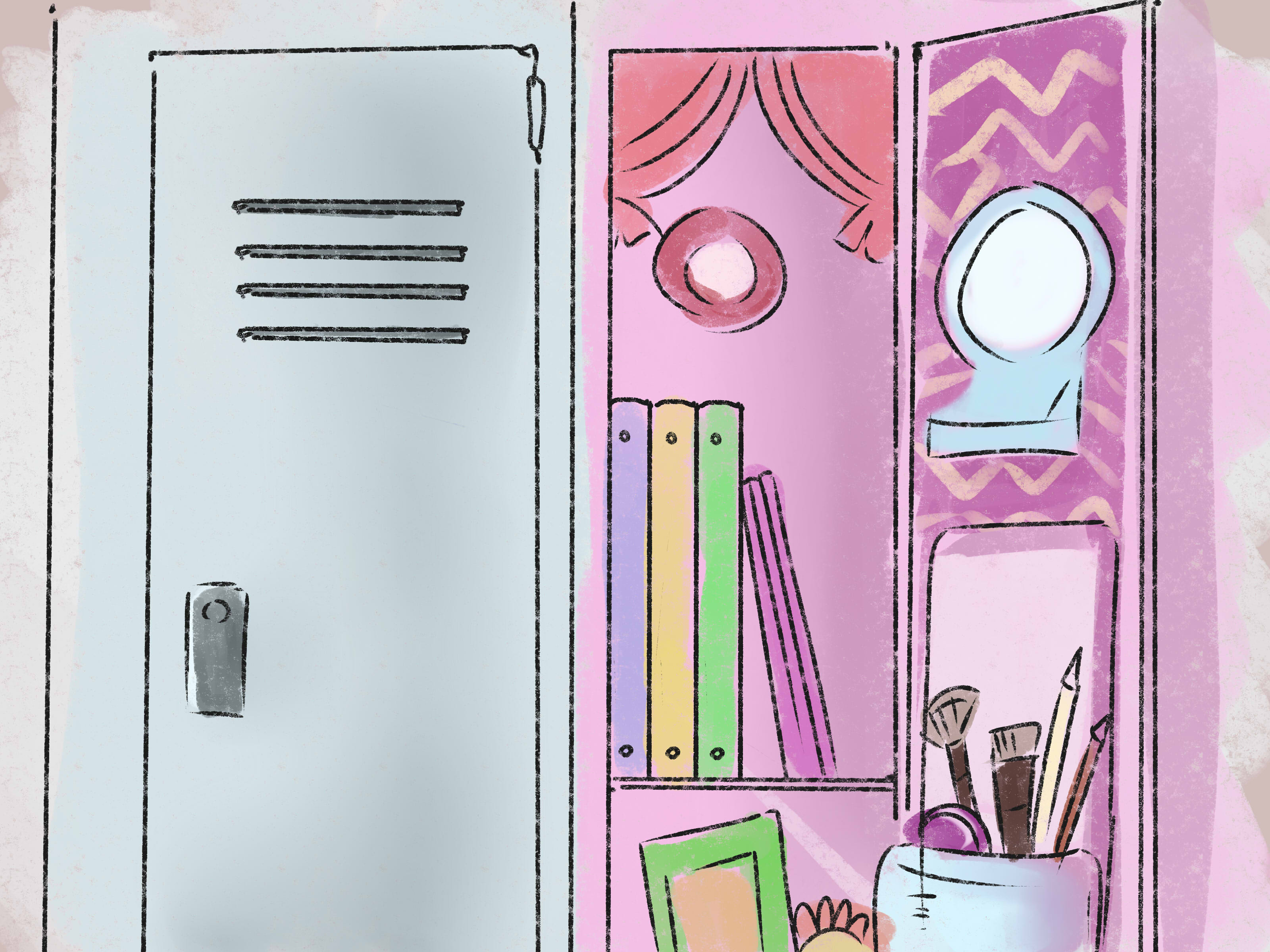 Shop back to school girls locker decor charmposh charmposh trends for back to school time its all about locker decor for girls from locker rugs to chandelier lightingorganizing locker storage is the biggest trend and arubaitofo Images