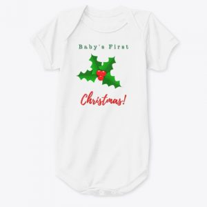 Baby's First Christmas Holly Onesie CharmPosh