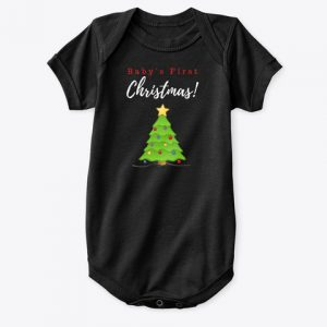 Baby's First Christmas Tree Onesie CharmPosh