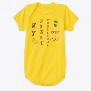 My First Christmas Ever Onesie CharmPosh Yellow