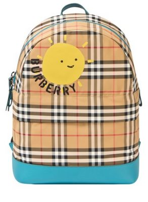 Burberry Vintage Check Nico Beige Backpack CharmPosh