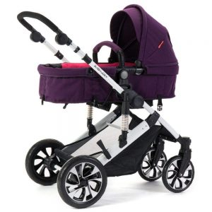 Littlefairy Baby Carriage,Baby Stroller High-View Reclining Reversible Suspension Trolley