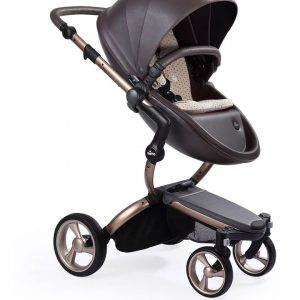 Xari Rose Gold Chassis Stroller with Reversible Reclining Seat & Carrycot