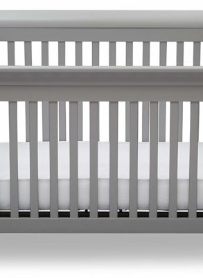Grey 4-in-1 Convertible Baby Crib By Delta Children Emery CharmPosh Baby Cribs